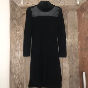 Ann Taylor Sweater Dress with Faux Leather